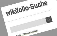 Suchmaske wikifolio-Suche