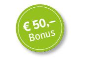 50 Euro Bonus!
