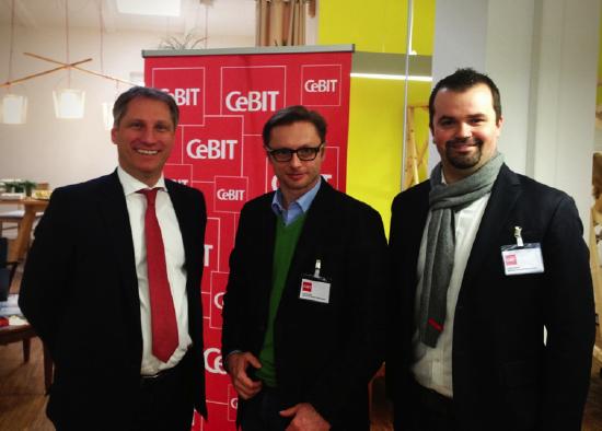 wikifolio gemeinsam mit Hr. Pörschmann, Vorstand der CeBIT