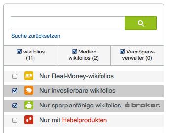 wikifolio-Suche