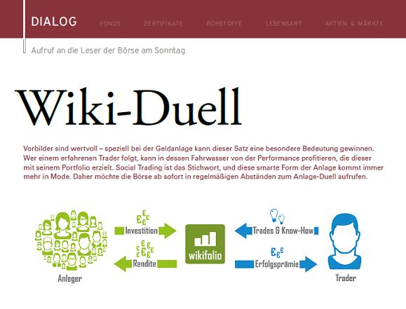wikifolio-Duell der Börse am Sonntag